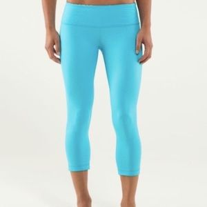 Lululemon Wunder Under Crop Spry Blue
